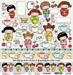 Papel de scrapbook Ban Cha - Love Japan - Goodies