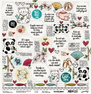 Papel de scrapbook Maneki Neko - Love Japan - Goodies