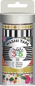 Kit de Fitas adesivas decorativa (Washi tape) WTT-10 Create 365 - Me & My Big Ideas