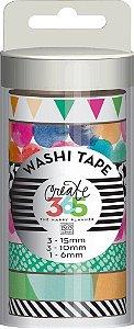 Kit de Fitas adesivas decorativa (Washi tape) WTT-02 Create 365 - Me & My Big Ideas