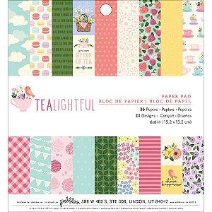 Bloco de papéis scrapbook 15x15 cm - Tealightful - Floral - Pebbles