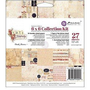 Bloco de papéis e adesivos para scrapbook 15x15 Love Clippings - Prima