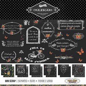 Bloco de papéis para scrapbook 15x15 cm - Chalkboard - Arte Fácil