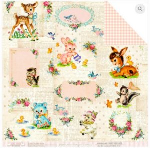 Papel scrapbook 30x30 Bons Tempos - Shabby Baby - Dany Peres