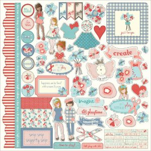 Adesivos 30x30 Paper Dolls - Julie Nutting - Photoplay