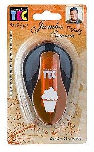 Furador jumbo alavanca Cupcake (by Vlady) - Toke e Crie