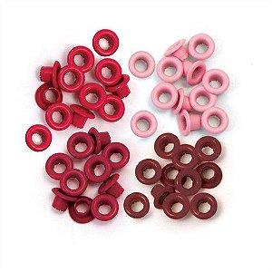 Ilhoses de alumínio tons Vermelho - We R