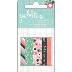 Kit 5 washi tape Girl Squad - Pebbles