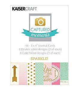 """Cards 3x4"""" (10 x 7,5cm) Sparkle - Kaisercraft"""