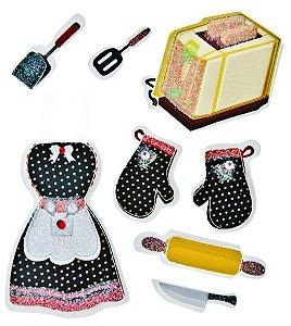 Adesivos glitter Cozinha - Toke e Crie