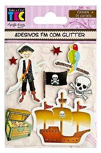 Adesivos glitter Piratas - Toke e Crie