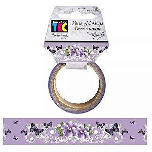 Fita decorativa (washi tape) Amor Perfeito Lilás - Toke e Crie