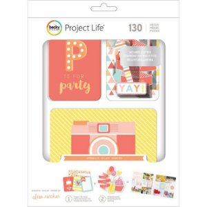 Kit de Project Life  Sprinkles  125 cards e die cuts  American Crafts
