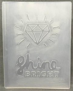 Placa de emboss (relevo) - Shine Bright - Pink Paislee