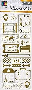 Adesivos Foil dourado Volta ao Mundo - Toke e Crie