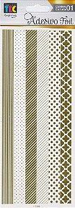 Adesivos Foil dourado Faixas - Toke e Crie