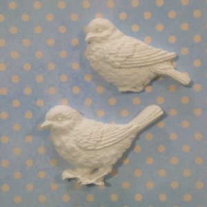 Apliques em resina Pássaros - Arte Fácil