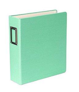 Álbum 15x20cm capa tecido verde água- Studio Calico