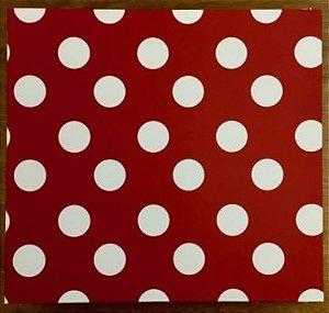 Álbum de scrapbook 30x30 Poá vermelho- Oficina do Papel