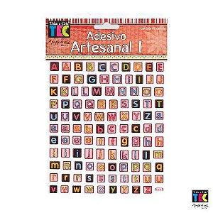 Adesivo Artesanal I - Alfabeto colerido - Toke e Crie