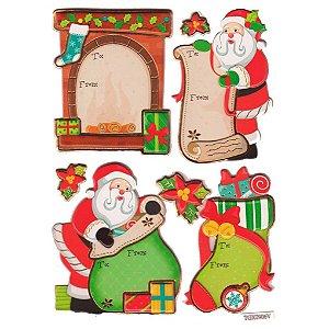Adesivos puffy Natal - Papai Noel e Presentes - Toke e Crie