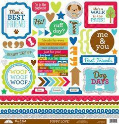 Adesivo 30x30 Puppy Love Doodlebug