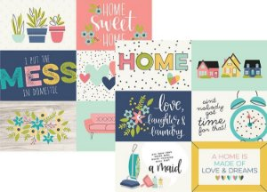Papel Domestic Bliss 4x6 Horizontal Elements - Simple Stories