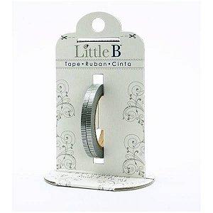 Washi tape - Little B (kit com 2) - Silver Grosgrain