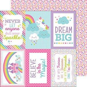 Papel Scrapbook - Doodlebug - Fairy Tales -  Fairy Fetty