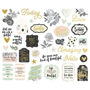 Die Cuts - Bits And Pieces - Beautiful- Simple Stories
