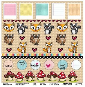 Papel de scrapbook Fofurice - Voltamos - Goodies