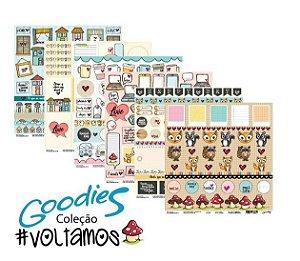Kit 6 Papéis de scrapbook coleção Voltamos - Goodies