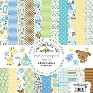 Bloco de papel para scrapbook Bebê menino Snips & Snails - Doodlebug