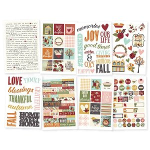 Adesivos com 8 cartelas Vintage Blessings - Simple Stories
