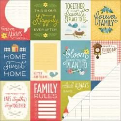 Papel para scrapbook  - Homegrown - Family Time - Peebles