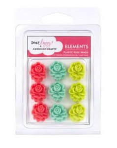 Bailarinas de plástico Flores - Dear Lizzy - American Crafts