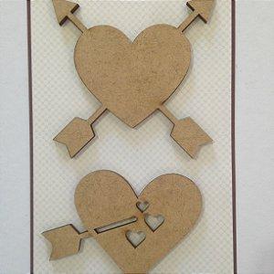 Apliques em MDF Corações - Arte Fácil