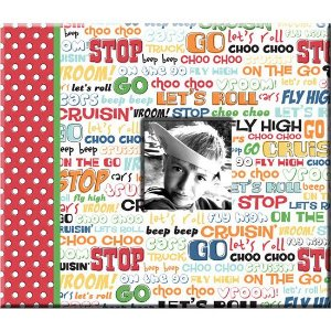 Álbum 20x20cm capa - Let`s Roll Menino - Imaginisce