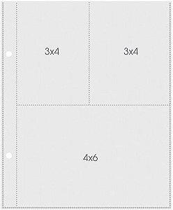 Refil para álbum Snap 15x20 com 3 divisórias - 3x4/ 4x6 - Simple Stories