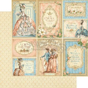 Papel Scrapbook 30x30 Dupla Face - Lavish Lifestyle - Gilded Lily Collection - Graphic 45
