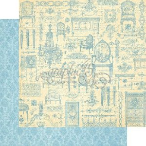 Papel Scrapbook 30x30 Dupla Face - Versaillles - Gilded Lily Collection - Graphic 45