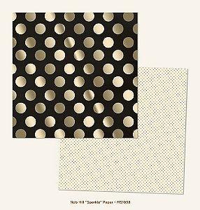 Papel Scrapbook 30x30 Dupla Face - Nob Hill círculos com Foil - Market Strees - MME