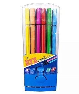 Kit canetas hidrográficas - 0.4 mm - YES (12 canetas + estojo  azul)