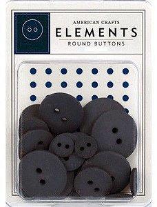 Botões  Azul Blueberry com 24 peças - American Crafts