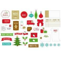 Embellishments  Be Merry - Ephemera - Cookies - American Crafts