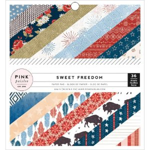 Bloco de papéis scrapbook 15x15 Sweet Freedom - Pink Paislee