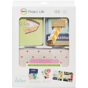 Kit de Project Life Garden Party com 120 cards e die cuts  American Crafts