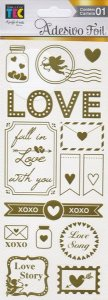 Adesivos Foil dourado Detalhes de Amor - Toke e Crie