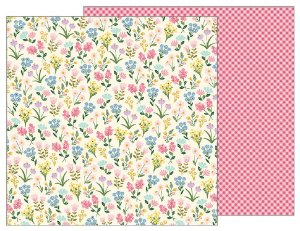Papel Scrapbook 30x30 Dupla Face - Tealightful - Meadow - Pebbles