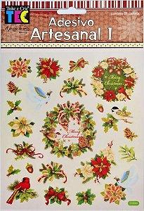 Adesivo Artesanal I - Guirlanda e Flores - Toke e Crie